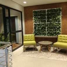 Living wall literally 'breathes' life into this space